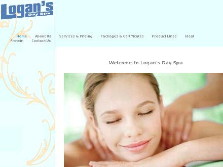 Logans Day Spa (306-445-7933) - Website thumbnail - http://www.logans.ca/lds