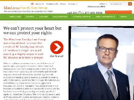 MacLean Family Law Group (604-602-9000) - Onglet de site Web - http://www.bcfamilylaw.ca