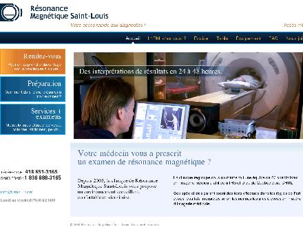 Résonance Magnétique St-Louis Inc (418-651-3165) - Website thumbnail - http://www.resonancemagnetiquestlouis.com