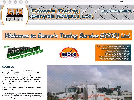 CTS Coxon's Towing Service Ltd (519-979-5421) - Website thumbnail - http://ctscoxons.com/
