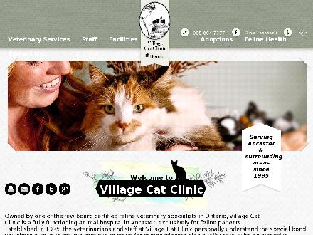 Village Cat Clinic (905-304-7877) - Onglet de site Web - http://www.villagecatclinic.ca