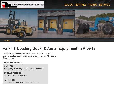 Mainline Equipment Limited (780-453-3695) - Website thumbnail - http://www.mainlineequipment.com