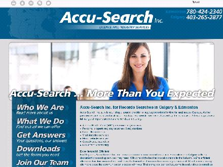 Accu-Search Inc (780-424-2340) - Onglet de site Web - http://accu-search.co