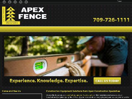 Apex Construction Specialties Inc (709-726-1111) - Onglet de site Web - http://apexconstructionspecialties.com/