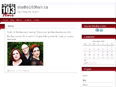 Studio 103 Hair (604-392-1030) - Onglet de site Web - http://www.studio103hair.ca
