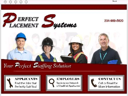 Perfect Placement Systems (204-989-5820) - Onglet de site Web - http://perfect-placement.ca/