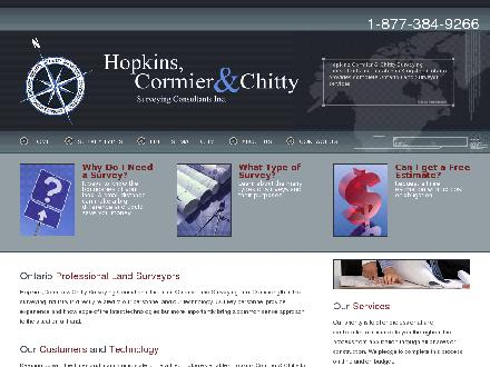 Hopkins Cormier & Chitty Surveying Consultants Inc (613-384-9266) - Website thumbnail - http://www.hopkinscormier.com