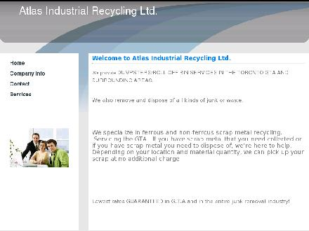 Atlas Industrial Recycling Ltd (416-234-2852) - Onglet de site Web - http://www.atlasindustrialrecycling.com