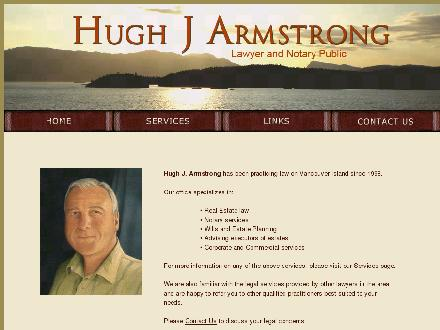 Hugh J Armstrong Lawyer and Notary Public (250-746-4354) - Website thumbnail - http://www.hugharmstronglaw.ca