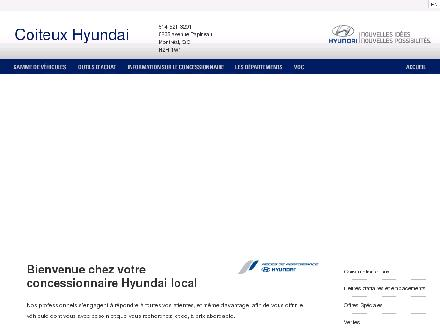 Coiteux Hyundai (514-418-2282) - Onglet de site Web - http://www.coiteuxhyundai.ca