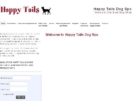 Happy Tails Dog Spa (416-485-0513) - Website thumbnail - http://www.happytailstoronto.com