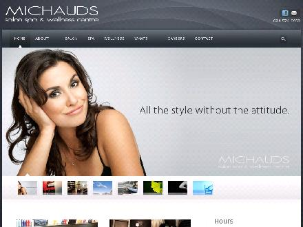 Michaud's Salon Spa & Wellness Centre (604-574-9959) - Onglet de site Web - http://www.michauds.ca