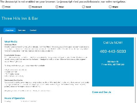 Three Hills Inn & Bar (403-443-5033) - Onglet de site Web - http://threehillsinn.ca/