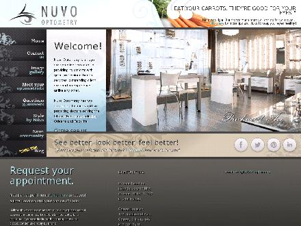 Nuvo Optometry - Onglet de site Web - http://www.laurinoptometry.ca