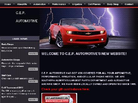 C E P Automotive Ltd (403-328-8181) - Onglet de site Web - http://www.cepauto.com