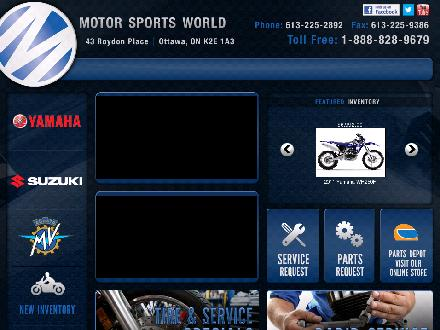 Motor Sports World (613-225-2892) - Onglet de site Web - http://www.motorsportsworld.com