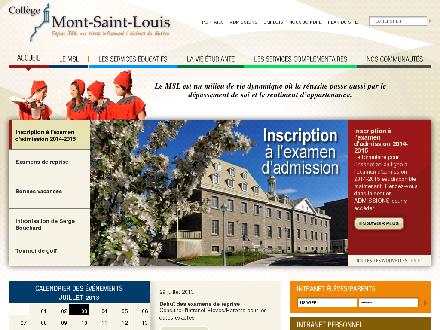 Collège Mont-Saint-Louis (514-382-1560) - Website thumbnail - http://www.msl.qc.ca