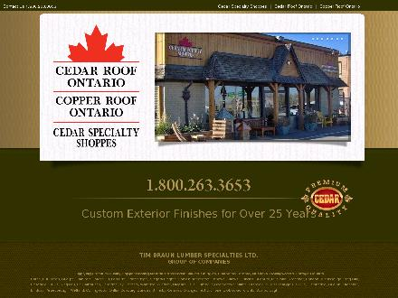 Cedar Roof Ontario (1-877-202-9676) - Website thumbnail - http://www.thinkcedar.com