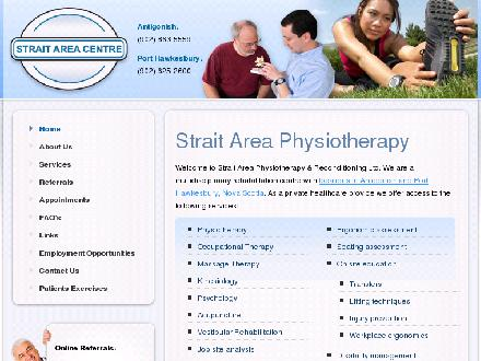 Strait Area Physiotherapy (902-863-5559) - Website thumbnail - http://www.straitareaphysio.com