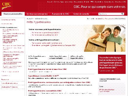 CIBC (1-866-525-8622) - Website thumbnail - http://www.cibc.com/ca/mortgages/index-fr.html