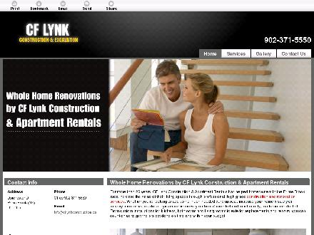CF Lynk Construction &amp; Apartment Rentals (902-371-5550) - Onglet de site Web - http://cflynkconstruction.ca
