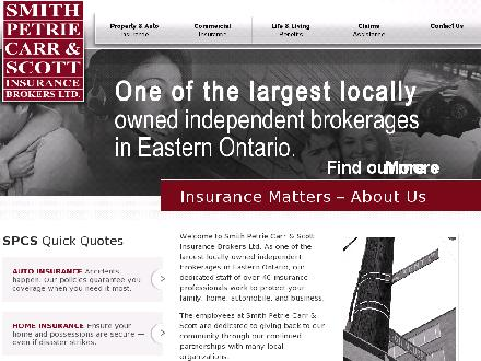 Smith Petrie Carr & Scott Insurance Brokers Ltd (613-237-2871) - Onglet de site Web - http://www.spcs-ins.com