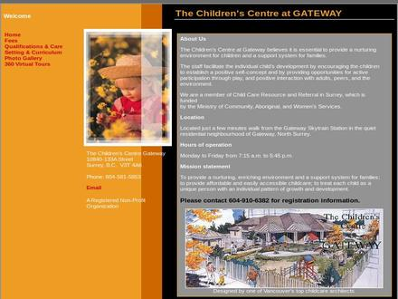 Children's Centre At Gateway The (604-581-5853) - Onglet de site Web - http://www.gatewaychildrenscentre.com
