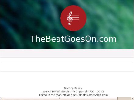 Beat Goes On The (905-633-9393) - Onglet de site Web - http://www.thebeatgoeson.com