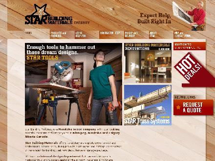 Star Building Materials (403-720-0010) - Website thumbnail - http://www.starbuildingcalgary.ca