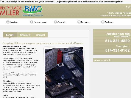 Recyclage Miller Inc (514-321-4820) - Onglet de site Web - http://recyclage-miller.com