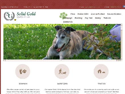 Solid Gold Pet Resort (506-457-1530) - Onglet de site Web - http://www.sgpr.ca