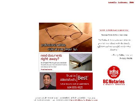 Sidhu & Associates (604-859-4825) - Website thumbnail - http://www.abbotsfordnotary.com