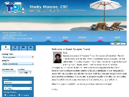 Sweet Escapes Travel - TPI (902-827-2347) - Website thumbnail - http://www.sweetescapestravel.ca