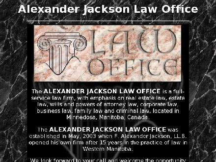 Alexander Jackson Law Office (204-867-3981) - Website thumbnail - http://www.ajaxlaw.ca