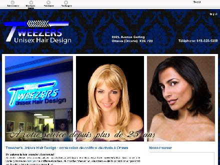 Tweezer's Unisex Hair Design (613-820-5209) - Onglet de site Web - http://tweezershairsalon.ca/
