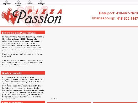 Pizza Passion Inc (418-622-4447) - Onglet de site Web - http://pizzapassion.ca