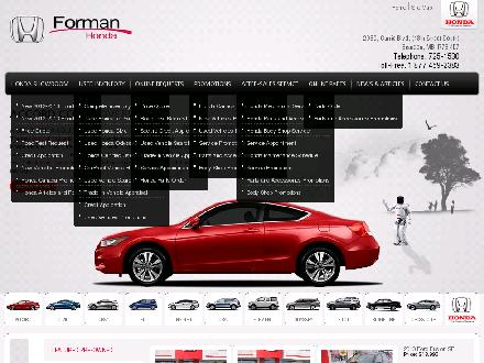 Forman Honda (204-725-1530) - Website thumbnail - http://www.formanhonda.ca