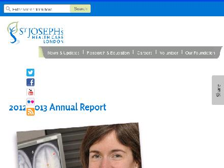 St Joseph's Health Care London (519-646-6100) - Onglet de site Web - http://www.sjhc.london.on.ca