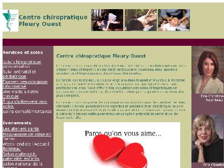 Centre Chiropratique Fleury Ouest (514-385-5100) - Website thumbnail - http://www.chiropraticienne.com