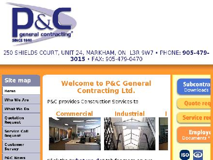 P &amp; C General Contracting Ltd (905-479-3015) - Onglet de site Web - http://www.pandccontracting.com