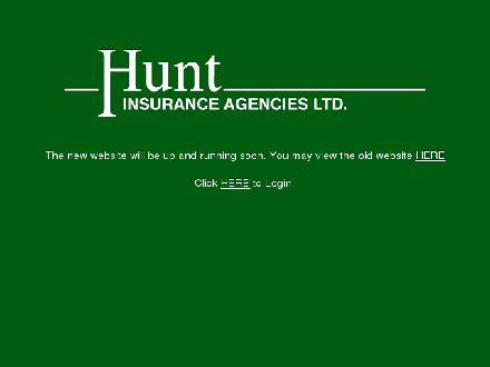 Hunt Insurance Agencies Ltd (403-359-5178) - Onglet de site Web - http://www.huntinsurance.net