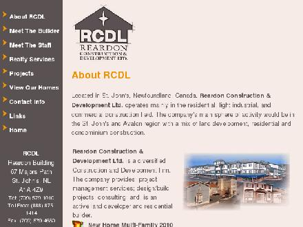 Reardon Construction & Development Ltd (709-579-1010) - Onglet de site Web - http://www.reardons.com