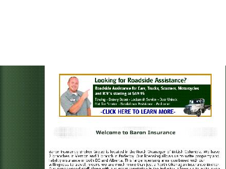 Baron Insurance (250-545-4447) - Onglet de site Web - http://www.baroninsurance.com