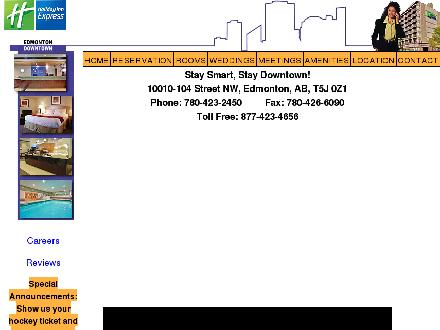 Holiday Inn Express Downtown (780-412-1598) - Website thumbnail - http://www.hiexdowntown.com