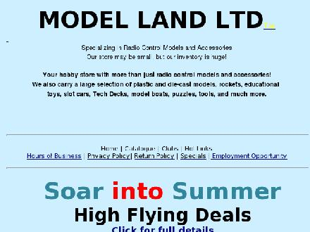 Model Land (403-249-1661) - Website thumbnail - http://www.modelland.com