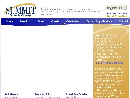 Summit Search Group (204-957-5500) - Onglet de site Web - http://www.summitsearchgroup.com