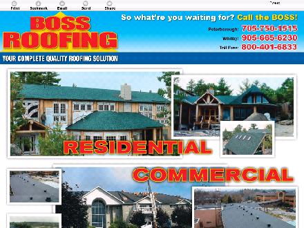 Boss Roofing (905-665-6230) - Website thumbnail - http://bossroofing.ca
