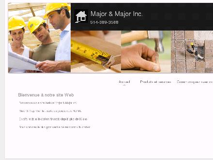 Major &amp; Major Inc (514-389-3588) - Onglet de site Web - http://www.rona-major.com