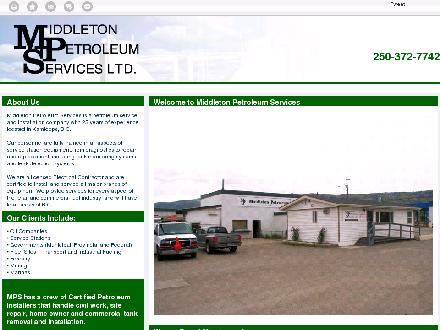 Middleton Petroleum Services (250-372-7742) - Website thumbnail - http://www.middletonpetroleum.com