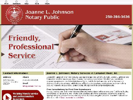 Johnson Joanne L (250-286-3636) - Website thumbnail - http://joannejohnson.ca